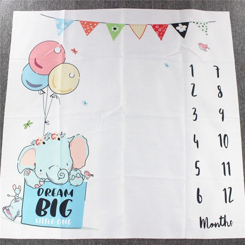 HTB1nQiYXFY7gK0jSZKzq6yikpXaz Cartoon Infant Portray Blanket Milestone Photo Props Background Blankets Baby Play Mats Backdrop Calendar Photo Accessories