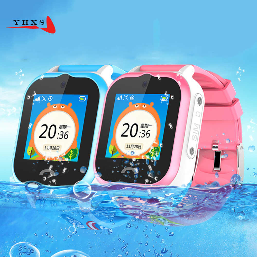 IP67 Waterproof Children GPS Swim Phone Smart SOS Call Location Device Tracker Kids Safe Anti-Lost Remote Monitor Watch PK Q750S children gps smart watch q750 baby watch with wifi 1 54inch touch screen sos call location device kids watch phone montre f15
