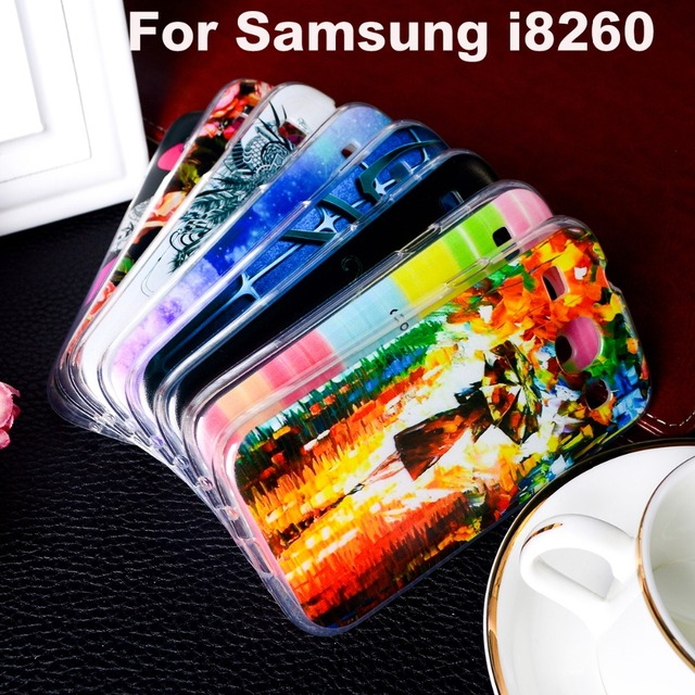 AKABEILA TPU Plastic Case For Samsung I8262 Case For Samsung Galaxy Core GT-I8262 I8260 4.3 inch 8260 GT i 8262 8262 Cover
