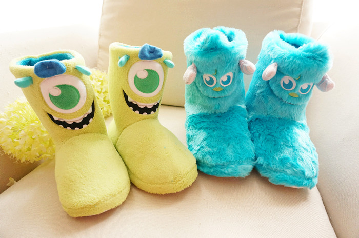 Monsters University New arrival wool boots at home thermal slip-resistant waterproof female slippers cosplay shoes