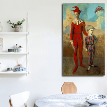 Acrobat And Young Harlequin By Pablo Picasso Art Canvas Poster Oil Painting Wall Picture Print Home Bedroom Decoration Artwork