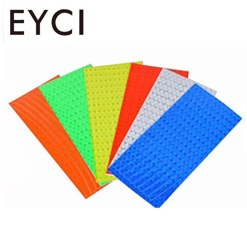EYCI Fluorescent MTB Bike Cycling Motorcycle Wheel Rim Reflective Stickers 6 Colors