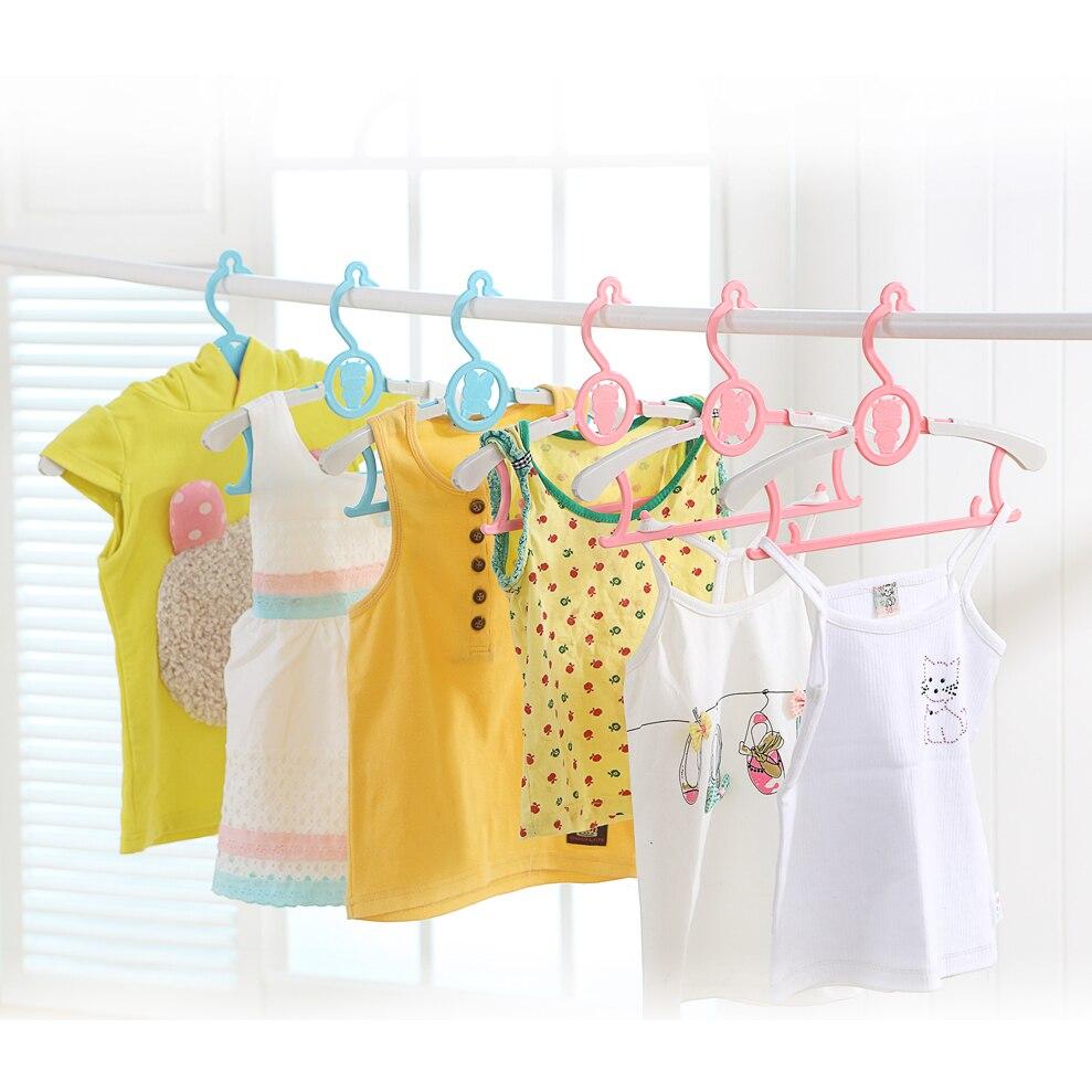 5cs/Lot Plastic Non-Slip Clothes Hanger Skirt Kid Clothes Stand Colorful Clothes