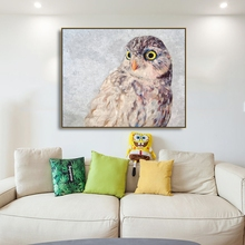 Watercolor Owl Animals Popular Prints Canvas Painting Calligraphy Home Decoration Wall Art Pictures For Living Room Bedroom набор из 2 полотенец two dolphins almira 10156 зеленый