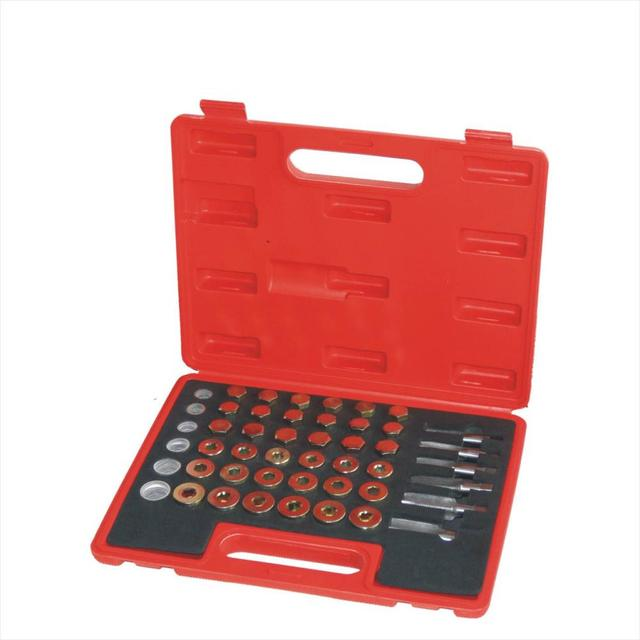 114Pc Oil Pan Drain Sump Plug Key Thread Repair Tool Kit Set Drain plug