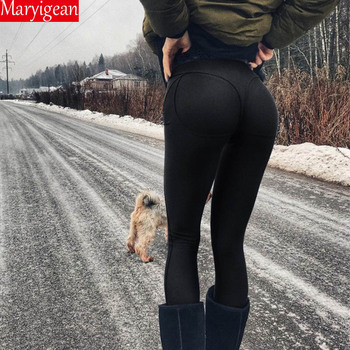 Maryigean Leggings High Quality Low Waist Push Up Elastic Casual Leggings Fitness for Women Sexy Pants Bodybuilding Clothing 4