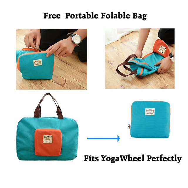 Yoga Wheel Set Dharma Yoga Wheel Basic Manual Resistance Band Yoga Block Yoga Belt Foldable Handy Bag
