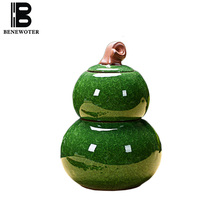 Ice Crack Texture Ceramic Gourd Double Layer Seal Tea Jar Tieguanyin Oolong Tea Storage Tanks Handmade Teaware Accessories Gifts(China)