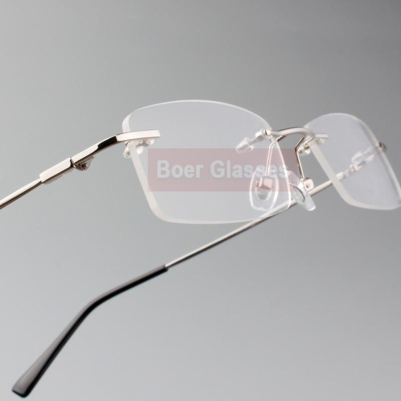 Rimless Glasses minne titan flexibla manglasögon glasögon - Kläder tillbehör - Foto 3