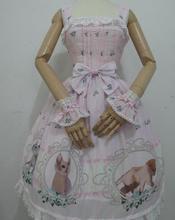 Spring, summer, new printing lolita blouse cat and rose * original * positioning JSK even chiffon fabric
