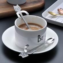Милая кофейная ложка oloey креативные Мультяшные ложки из нержавеющей