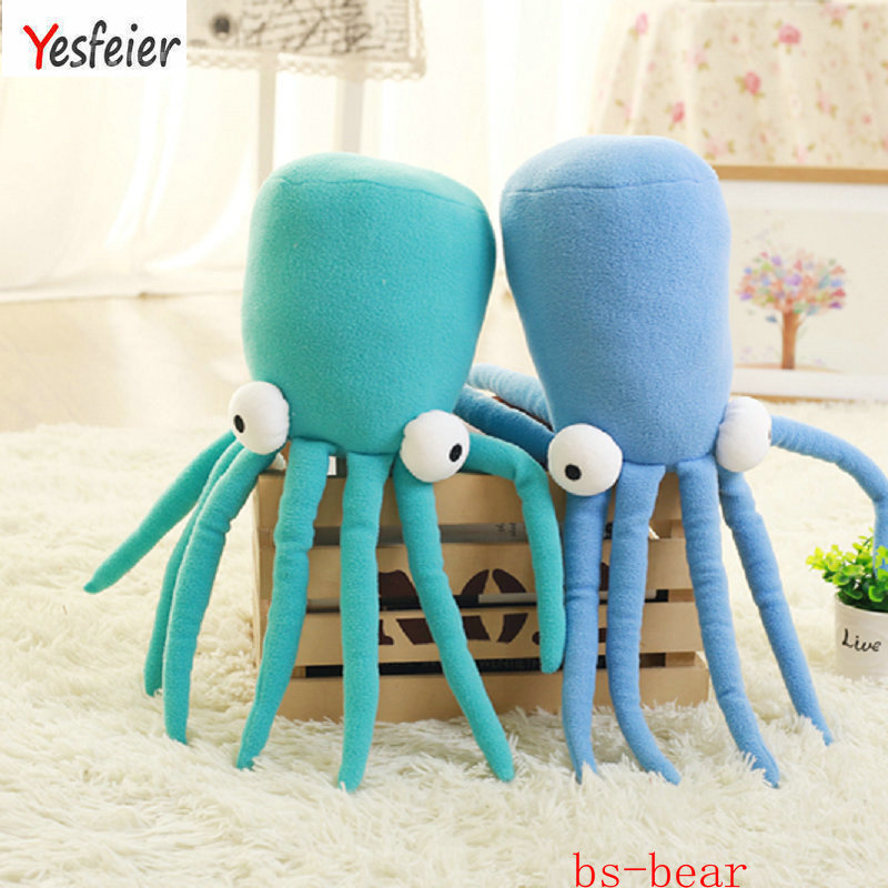 Drop shipping 45cm Cartoon Sea <font><b>Octopus</b></font> Doll Pillow lovely Squid Plush <font><b>Toys</b></font> Soft Cushion stuffed birthday gift for Chidlren image