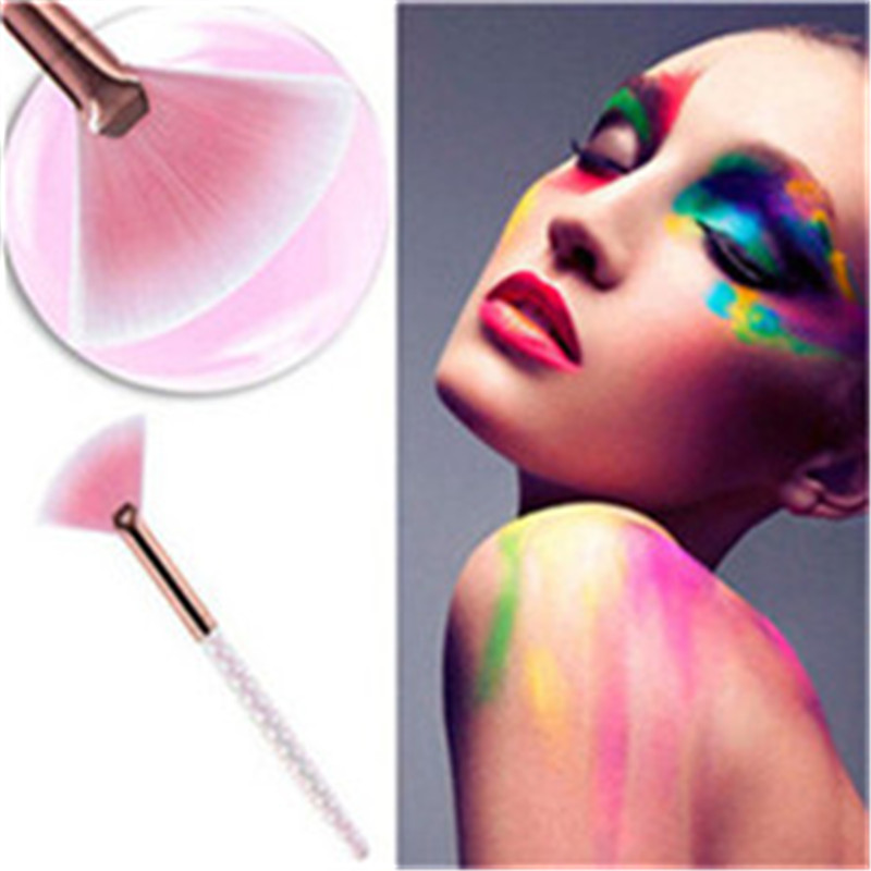 1Pcs Professional Fan Makeup Brushes Make Up Foundation Beauty Cosmetic Concealer Makeup-Brushes
