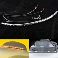 For Harley Touring Electra Tri Glide CVO FLHX FLHT 2014 2015 2016 2017 2018 Windshield Turn signal Trim Light LED Yellow