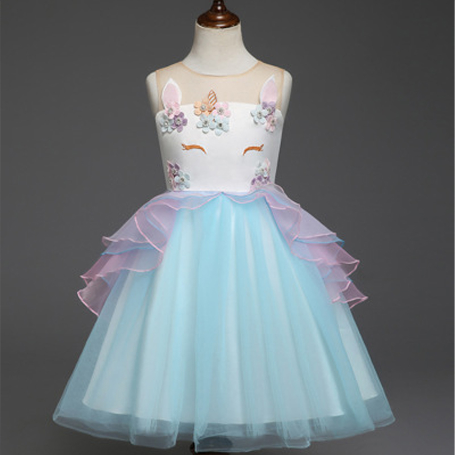 Girls Unicorn Dress Unicorn Party Princess Dress Baby Girl Dresses Vestidos Unicornio Cumpleanos vestido de festa Ninas Infantil женское платье booming jelly v 2015 vestido vestidos 141029 page 2