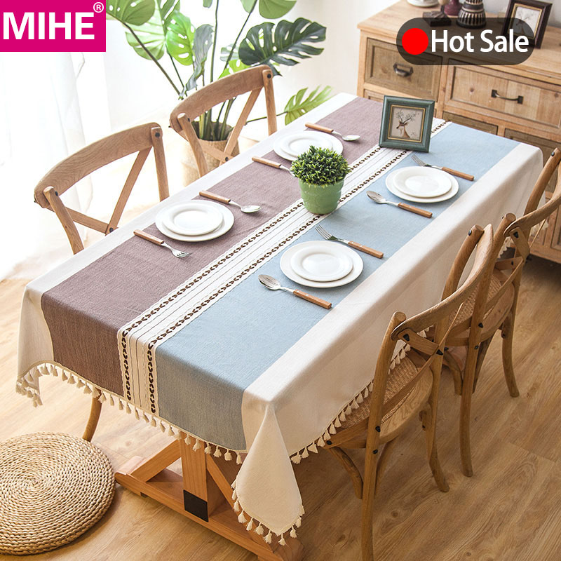 Banquet Kitchen Table: Modern Decorative Table Cloth Tassel Iace Rectangle