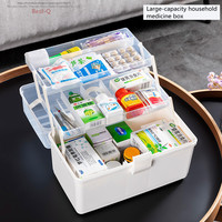 Household medicine cabinet multilayer drugs receive a case plastic family pack his large capacity first aid kit