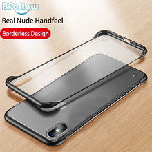 Bfollow Back Cover Case for iPhone 6 6s 7 8 Plus X XR XS Max Matte Frameless Clear Scrub Fashion Transparent Hard Capa
