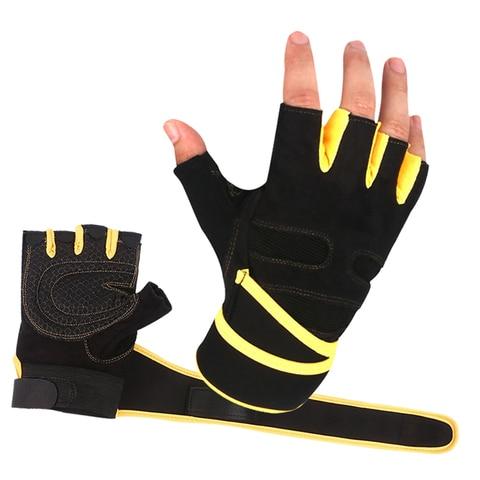 Levantamento de Peso Luvas de Equitação ao ar Treino de Fitness do Edifício do Corpo de Proteção de Pulso M-xl Exercício Ginásio Luvas Meio Dedo Esportes Livre