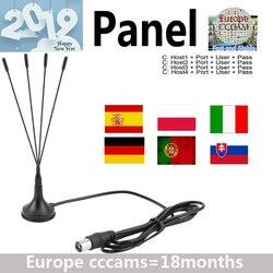 2019 Full HD Cccams 4 líneas panel 1 año para Europa España portugal ect