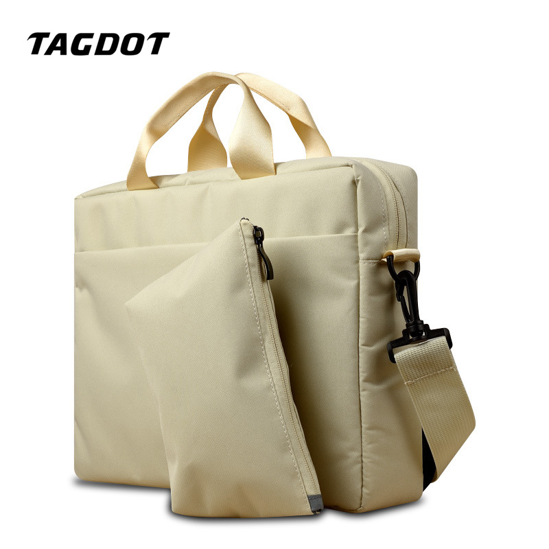 Tagdot brand canvas Laptop bag Women 15.6 15 14 13.3 13 inch Laptop shoulder bag men Casual fashion Notebook bag