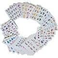 50 Folhas/Conjuntos de Etiqueta Da Arte Do Prego Projetos Mistos Flor de Transferência da Água Decalques Wraps Decoração Polonês Manicure Ferramentas de Maquiagem XF1001-1050