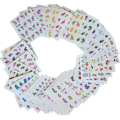 50Sheets/Sets Nail Art Sticker Mixed Designs Flower Water Transfer Decals Wraps Polish Decor Manicure Makeup Tools XF1001-1050