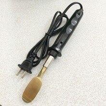 가죽 다림질 작은 철 ironskin 가죽 신발 다림질 플랫 주름 도구 플라스틱 손잡이 50 w 150 250 v