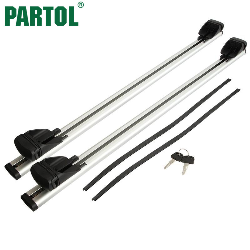 Partol Roof Rack Cross Bar Lock System T-slot Black Silver Car Styling Accessorioes 120cm 165LBS 48″ For snowboard/bike rack