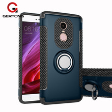 Phone Case For Xiaomi Redmi Note 4 Global Version 4X 4A 4 Pro with Car Holder Stand Finger Ring PC + TPU Armor Back Coque Funda