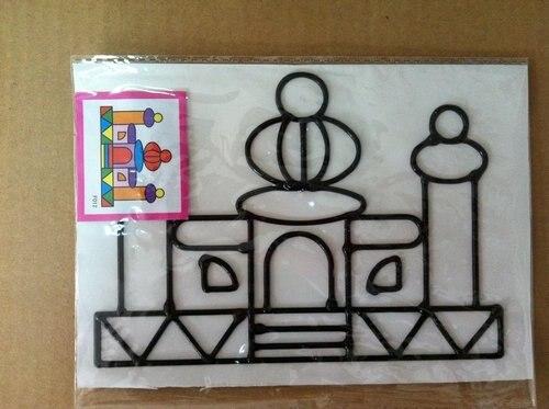 100 pcs/lot темперная живопись игрушка, 11* 19 см, Своими руками цвет рисунок