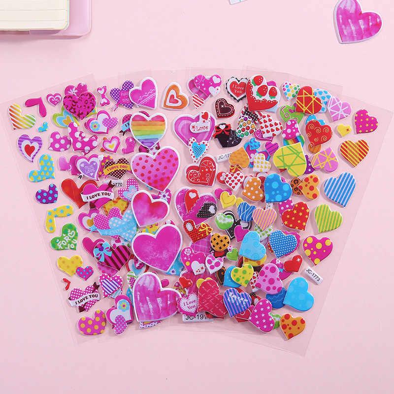 Wand aufkleber Blase Aufkleber 3D Cartoon Tier Wasserdichte DIY Baby Dusche Spielzeug für Kinder Jungen Mädchen zimmer dekoration wand abziehbilder