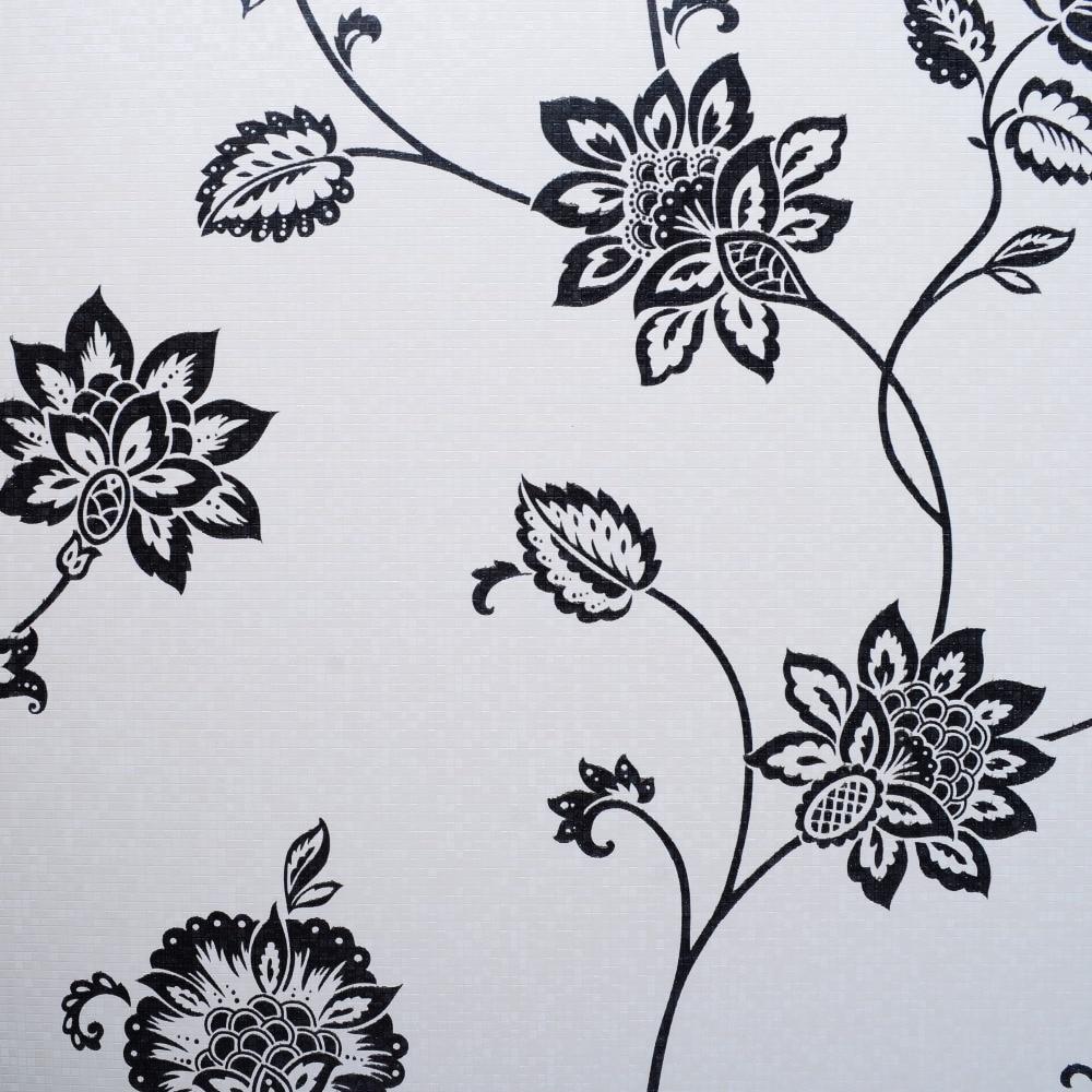 Online kopen wholesale wit zwart vinyl behang uit china wit zwart ...