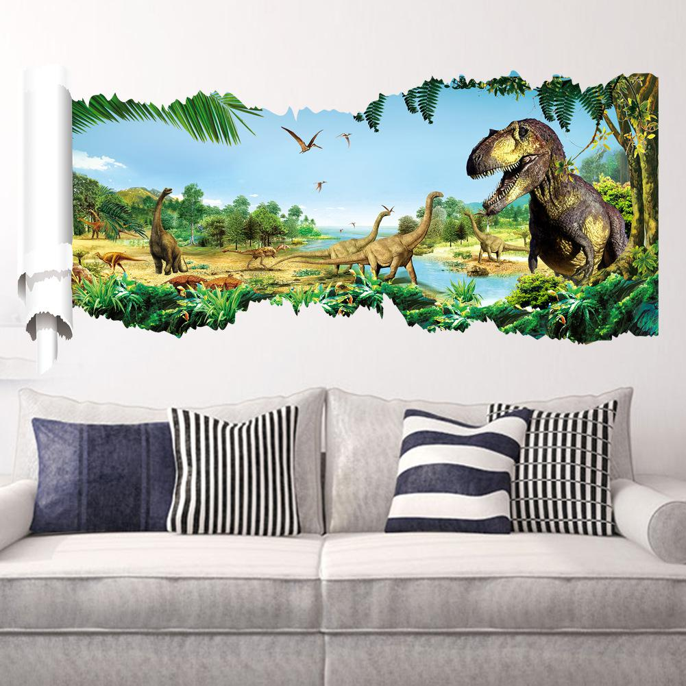 Wall stickers decoration for kids - Online Shop New Dinosaurs Children S Bedroom Living Room Decoration Kids Wall Sticker Animal 3d Wall Art Adesivo De Parede Aliexpress Mobile