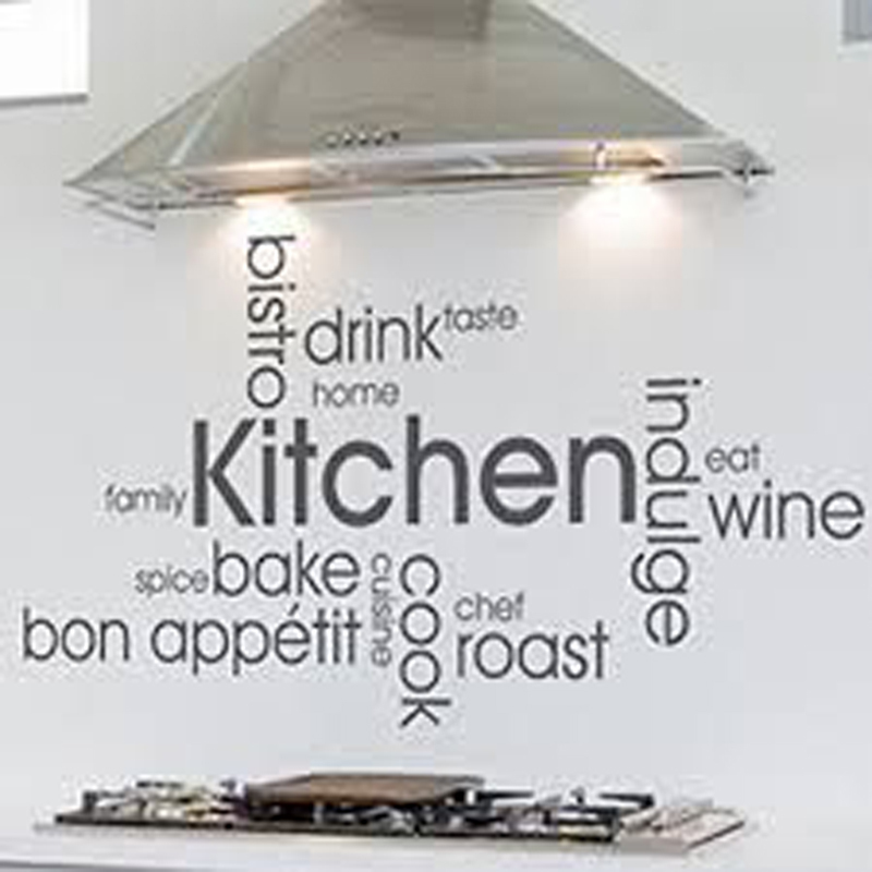 Kitchen Wall Decor Inspirations Restaurant Tile Vinyl Stickers Decals Art Mural Wallpaper In From Home