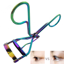 1Pc False Eyelash Aid Helper Curler Color Electroplating Fake Lash Curling Makeup Cosmetic Tool