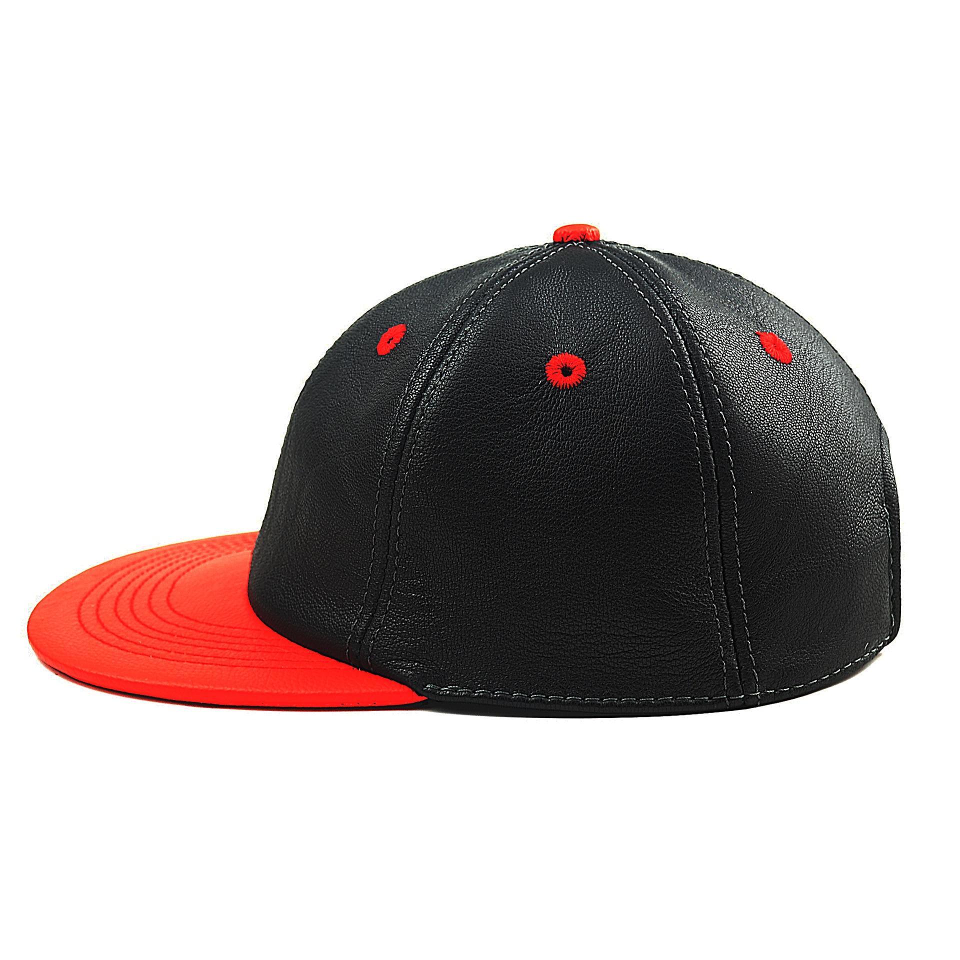 Winter fashion sheepskin hip-hop cap Men's and women's baseball cap Leather hat