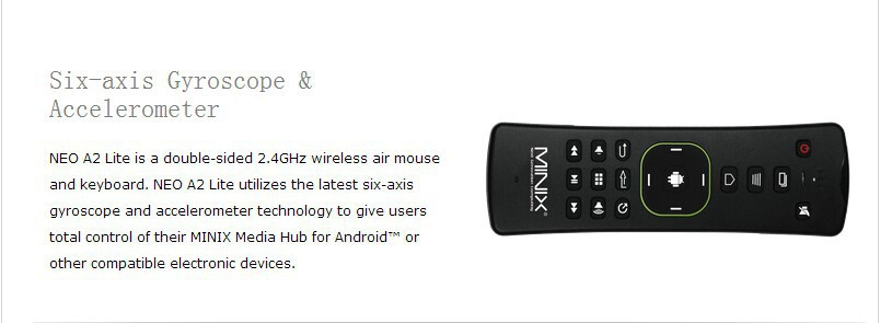 US $26 95 |MINIX NEO A2 Lite Keyboard Gaming Air Mouse 2 4GHz Wireless Six  axis Gyroscope Accelerometer for Android TV Box Mini PC Game-in Keyboards