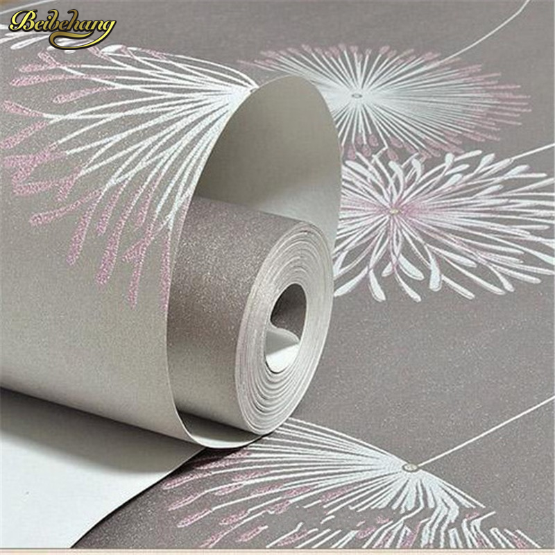 beibehang wall paper papel de parede 3D Non woven wallpaper warm rural dandelion living room bedroom wall paper TV background