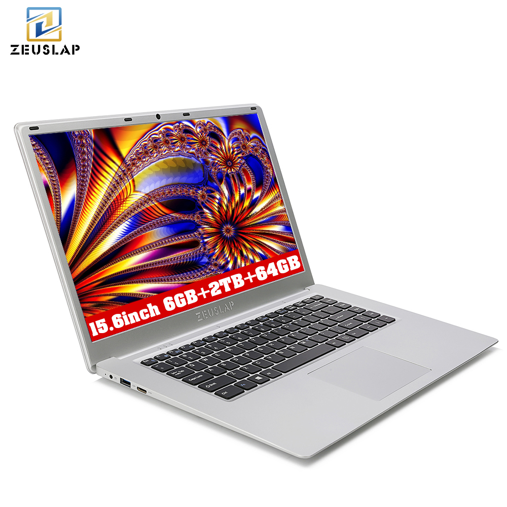 ZEUSLAP 6 ГБ Оперативная память + 2 ТБ HDD + 64 ГБ eMMC двойной диски Windows 10 Системы ультратонких 1920X1080 HD быстрый запуск ноутбук Тетрадь