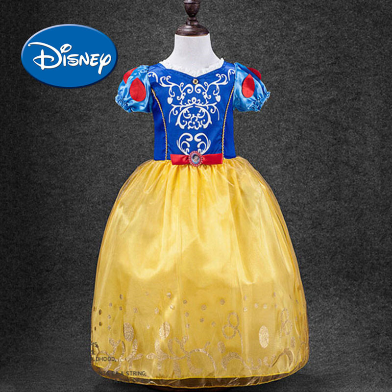 Disney Princess Girl Dress Snow White Cinderella Sofia Cosplay Party Wedding Children cloth Kids Dresses for Girls Summer