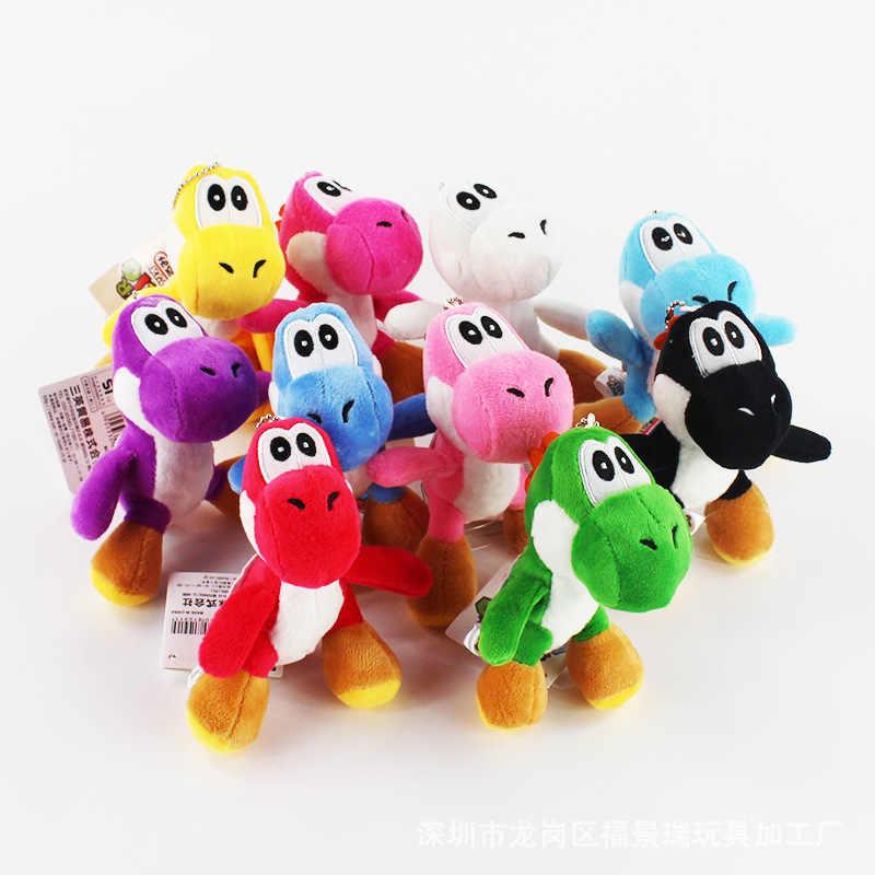 ألعاب من نسيج مخملي 12 سنتيمتر سوبر ماريو بروس يوشي محشوة ألعاب من القطيفة مع قلادة المفاتيح للأطفال