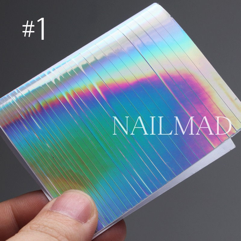 1 парақ NailMAD Holo Nail Art Stickers Ультра жұқа - Маникюр - фото 4