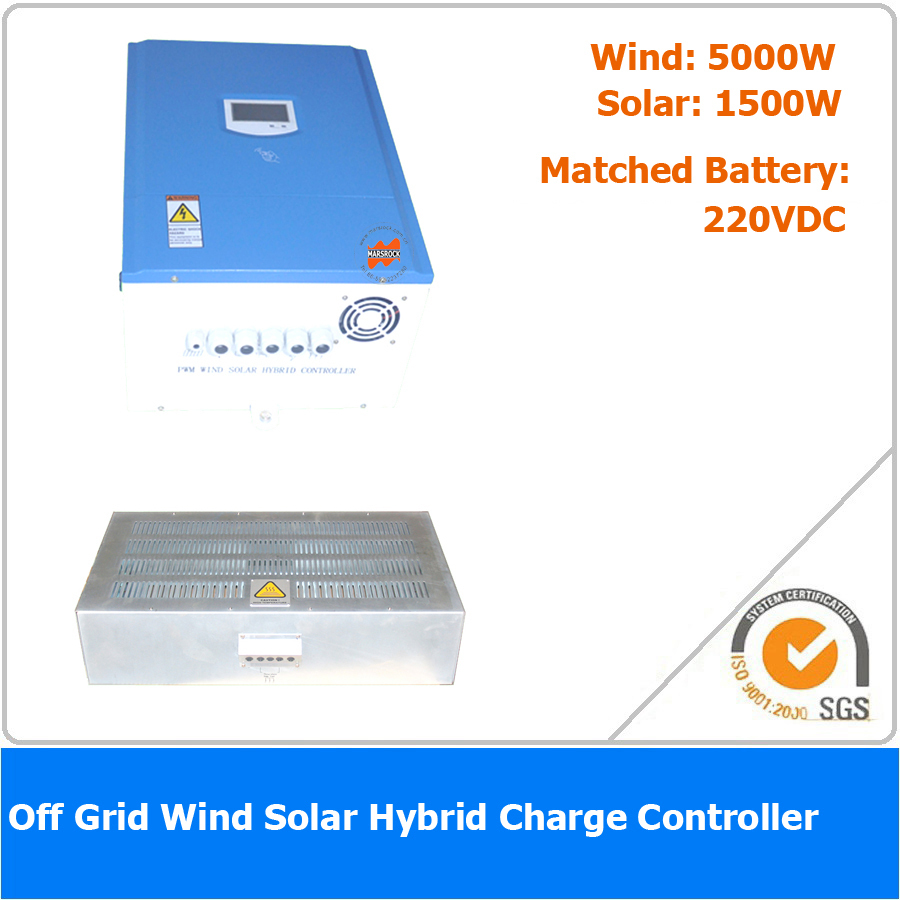 6500W 240VDC Off Grid Wind Solar Hybrid Charge Controller, 5000W Wind Power, 1500W Solar Power