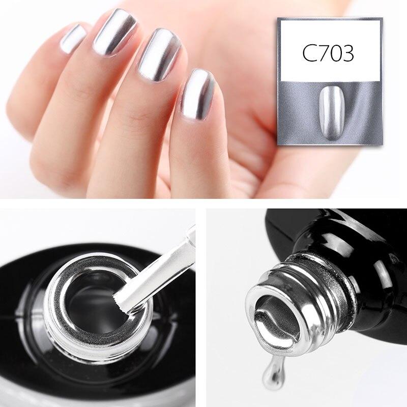 Canni Nail Polish Metal Colors 2018 Newest Bling Polish Glitter Nail Lacquer No Need Lamp ,Base, Top Polish Fast Dry Nail Polish
