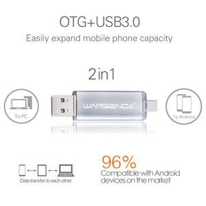 Image 3 - WANSENDA металлический OTG Usb флеш накопитель, 32 ГБ, 64 ГБ, 3,0 Гб, 128 ГБ