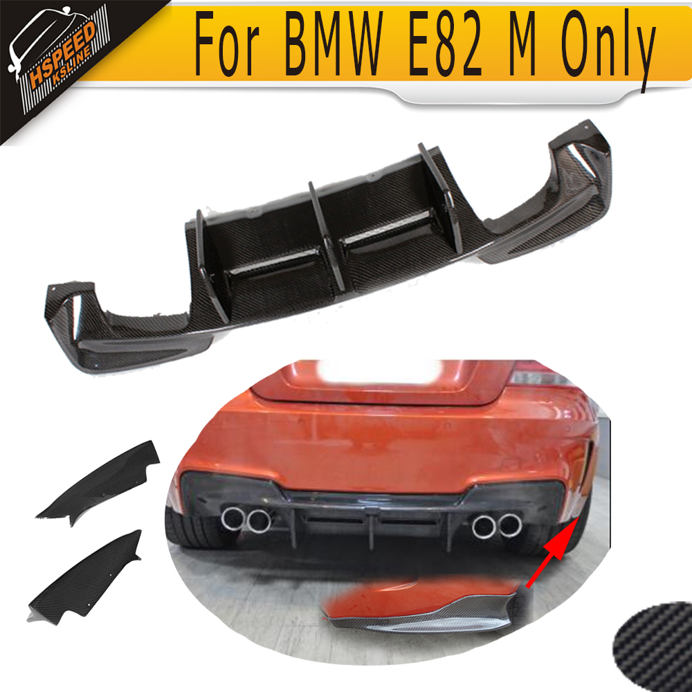 1 Series M Carbon Fiber Racing Rear Trunk Diffuser Lip spoiler With splitter apron for BMW
