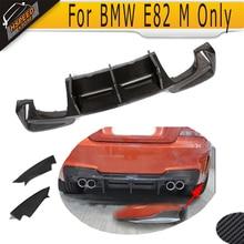 1 Serie M Kohlefaser Racing Rear Stamm Diffusor lippe mit splitter schürze für BMW E82 M Stoßstange Nur 2011-2017