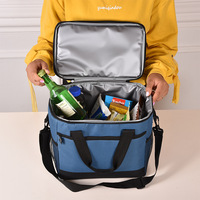 17L Cooler Bag Folding Insulation Large Portable Ice Bags Waterproof Lunch Leisure Picnic Packet Bento Box Food Thermal Bag