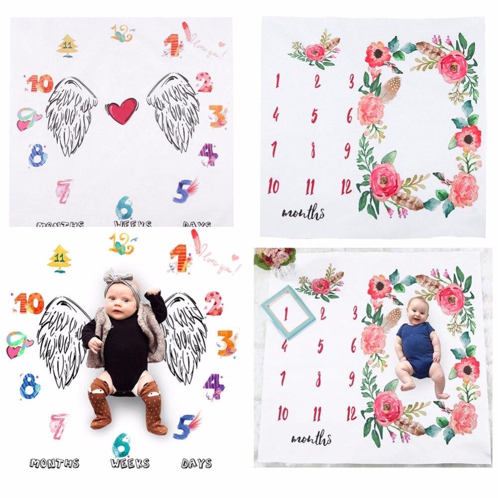 Цветок печатных детские Одеяло s пеленать Обёрточная бумага Симпатичные мягкие Одеяло новорожденных Модные банные полотенца DIY младенческ... ...